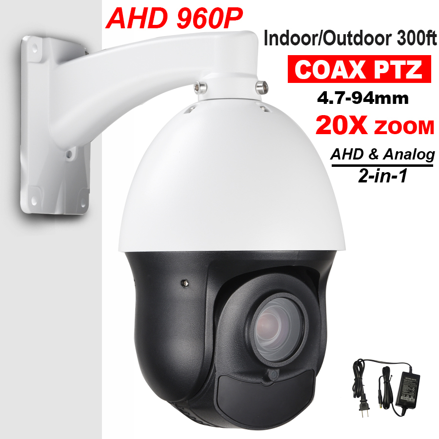 CCTV Outdoor Security 4 MINI SIZE AHD Analog 1500TVL High Speed Dome PTZ Camera 1.3MP 20X Zoom Auto Focus Laser IR 100M 4 in 1 ir high speed dome camera ahd tvi cvi cvbs 1080p output ir night vision 150m ptz dome camera with wiper