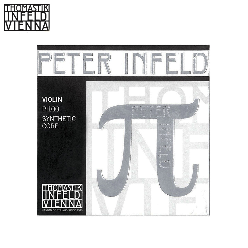 Thomastik Peter Infeld (PI100) Violin String Full set ,Platinum E--Silver D,Medium Gauge, Ball-End,Made in Austria thomastik dominant 135b violin strings full set 4 4 medium made in austria free shipping