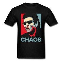 Men Tshirt Funny Chaos Theory T-Shirt Jurassic Park T Shirt Ian Malcolm Tops Jeff Goldblum Tees World Streetwear