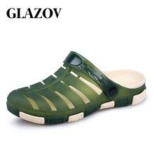 595c4bf8b4c9 GLAZOV Marke Gelee Schuhe 2018 Neue Sommer Männer Strand Sandalen Hohl  Hausschuhe Männer Flip-Flops
