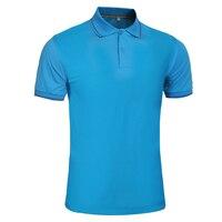 2017 Casual Cotton Men Polo Shirts Blue mens polo shirt
