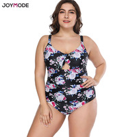 JOYMODE Swimsuit Women Swimwear Plus Size ONE Pieces Floral Print Tankini Retro Vintage Bathing Suits Large