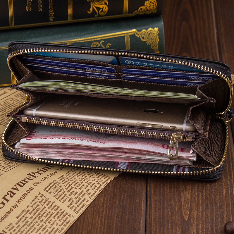 2018 Brand Pu Leather Men Wallets Business credit Cards holder Coin Purse Men's Long Zipper Wallet male leather zipper clutch never leather badge holder business card holder neck lanyards for id cards waterproof antimagnetic card sets school supplies