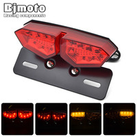 12V LED Turn Signal Brake Lights License Plate Integrated Taillight Universal For Motorcycle ATV Motocicleta Luzes