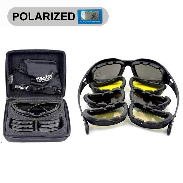 Daisy C5 военные поляризационные очки, 4 линзы, для улицы, UV, для спорта, охоты, военные солнцезащитные очки, для мужчин и женщин, очки для военных игр