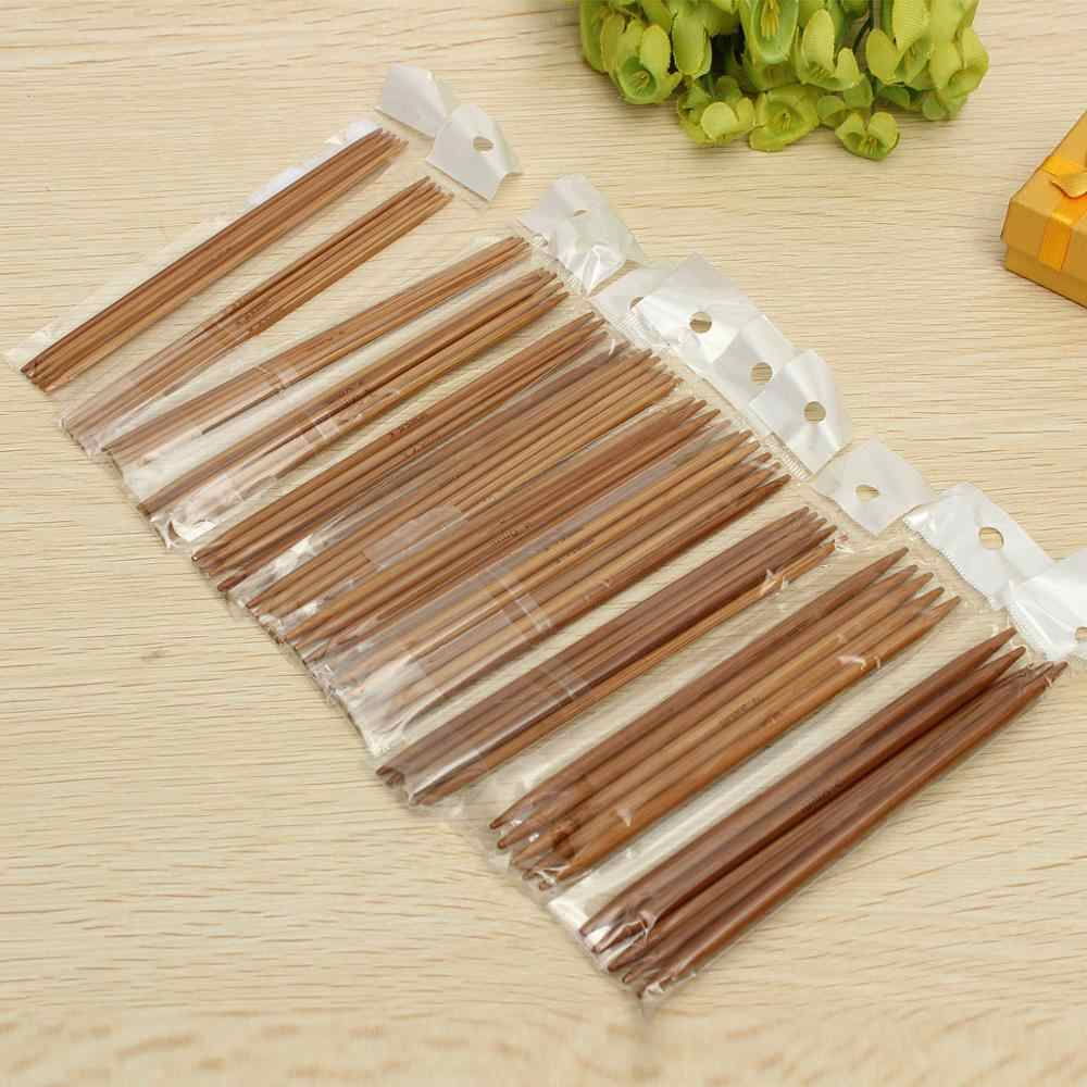 Aiguilles à tricoter en bambou | Aiguilles à tricoter, Crochet à Crochet, pull carbonisé à Double pointe, tissage d'aiguilles, 11 tailles 13 cm 55 pièces