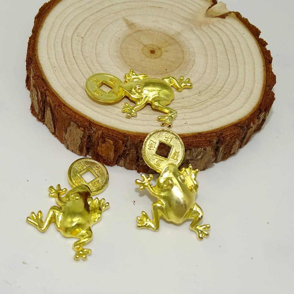 Optical alloy frog xuantong tongbao frog DIY ornaments wholesale manufacturers spot direct selling