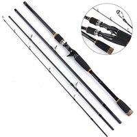 Travel Fishing Rod Spinning MH Hard 3/4 Section Fishing Rod Carbon Fiber Casting Fish Tool ASD88