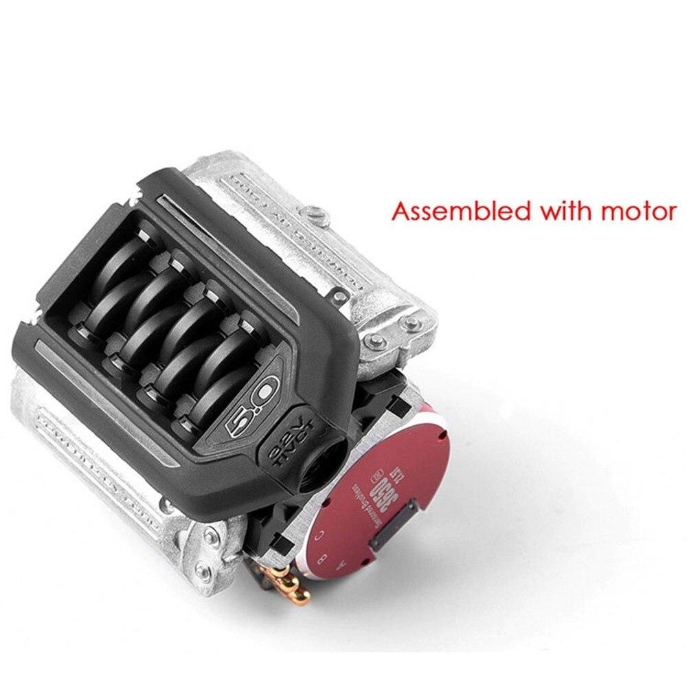 XBERSTAR Simulate F11 V8 5.0 Engine Radiator Dual Fan for 1/10 TRAXXAS TRX 4 TRX4 RC Crawler Car Parts Accessories
