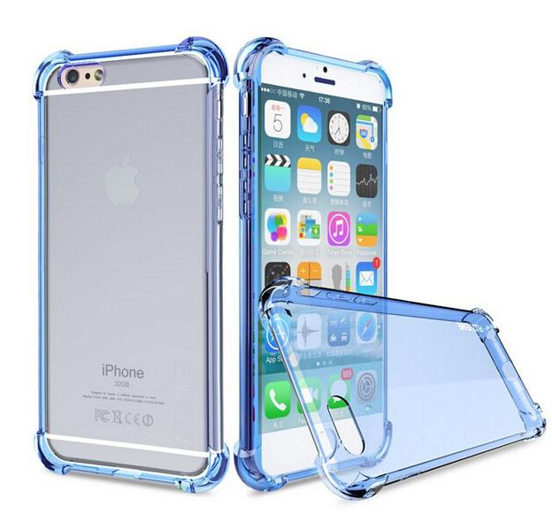 low priced b8c3b 13576 US $2.3 |New Transparent Clear Soft TPU Silicon Case shockproof cases for  Apple iphone 6 6S Plus Back Cover +Shockproof Cushion Accessor on ...