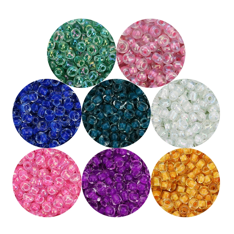 Linsoir 2700pcs/lot 2.5mm Diameter 1mm Hole Japanese Seed Beads Czech Glass Solid Seed Beads 40g/lot Jewelry Making Component
