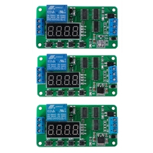 DC 5/12/24V Multifunction Delay Relay Timer Relay Switch Turn on/off PLC Module цена и фото