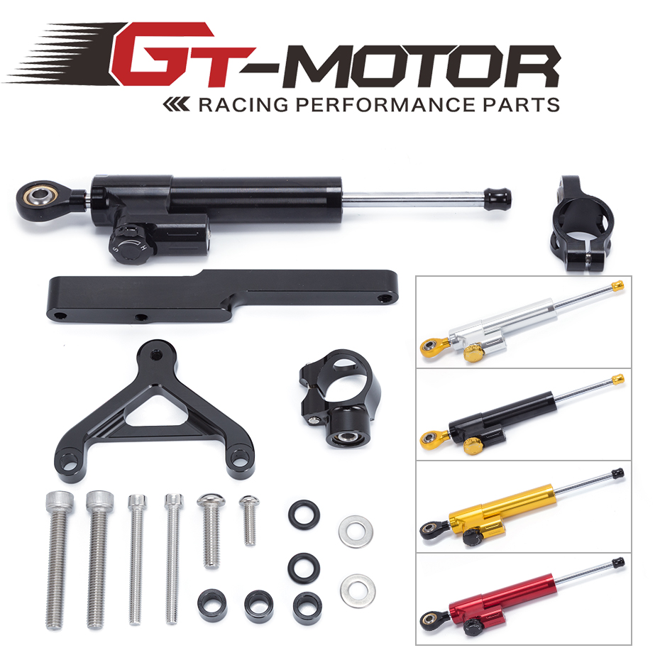 GT Motor FREE SHIPPING For HONDA CB1000R 2008 2016 Motorcycle Aluminium Steering Stabilizer Damper Mounting Bracket