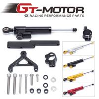 GT Motor FREE SHIPPING For HONDA CB1000R 2008 2016 Motorcycle Aluminium Steering Stabilizer Damper Mounting Bracket Kit