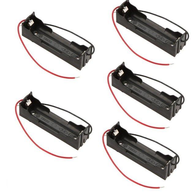 Фирменная Новинка 5 шт. DIY Аккумулятор Коробка для хранения Дело держатель для 3.7 В 18650 литиевых батарей