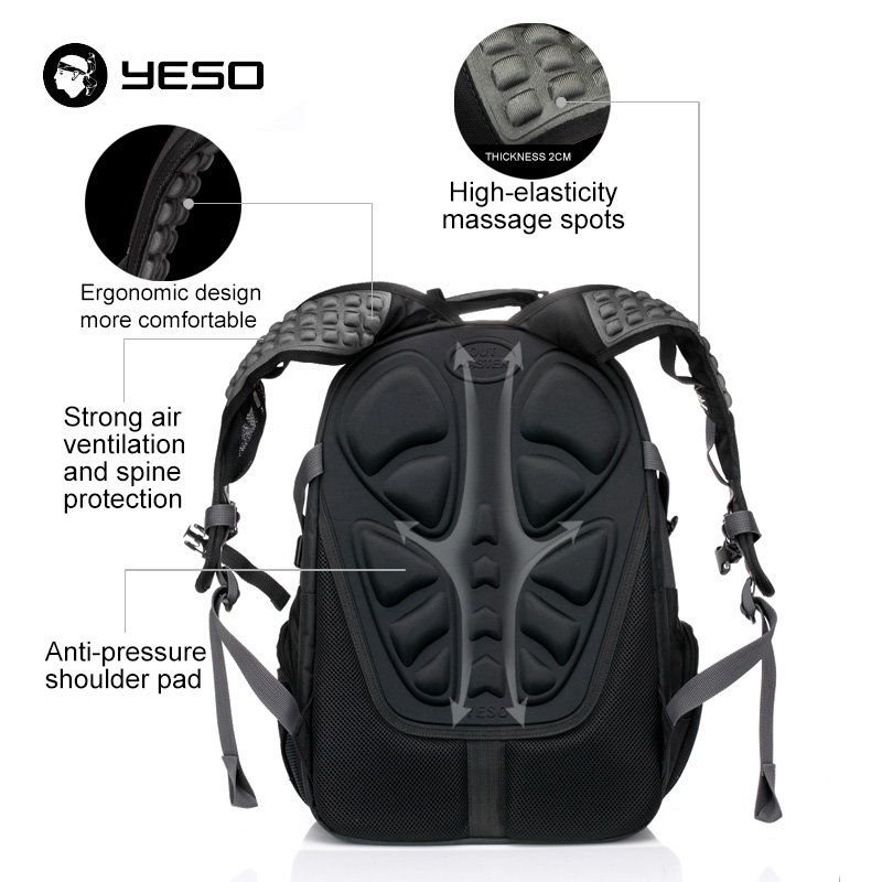Image 5 - YESO Large Capacity Laptop Backpack Men Multifunction Waterproof 15.6inch Backpack For Teenagers Business Casual Travel Backpack-in Backpacks from Luggage & Bags