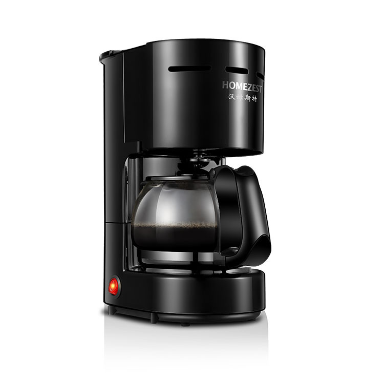 LK150 Food- grade Plastic Automatic American Drip Coffee Maker with Explosion-proof pot 600W Office Home Tea Making Machine
