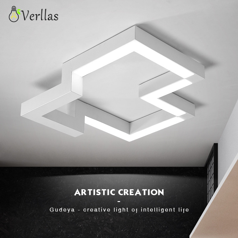 Modern structure LED Ceiling Light Indoor LED light Ceiling Lamp bed Living room creative personality White Black Room Light LED