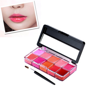 10 Colors Beauty Make Up Lipsticks Moisturizer Lip Gloss Cosmetic Set Lipstick Palette Nutritious Hydrating Makeup Tool New #T