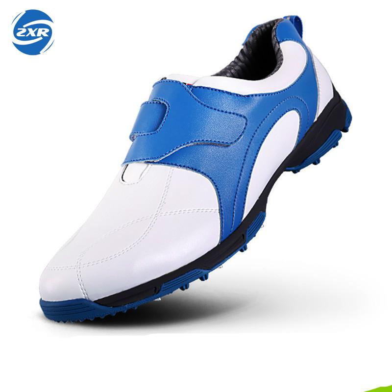 anti-skid 3D breathable patent design sport shoes super light imported microfiber leather resistant good grip golf shoes цена
