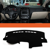 Dashboard Car Covers Mats For VW Volkswagen Polo MK5 5 2009 - 2016 Car Accessory Best Quality Wholesale Price Black