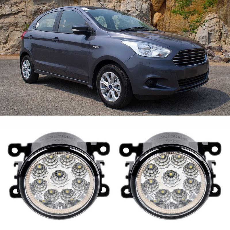 Car Styling For Ford Figo 2015 2016 9-Pieces Leds Fog Lights H11 H8 12V 55W LED Fog Head Lamp canvas multi layer function camouflage creative simple large capacity pencil case oxford school stationery bag with gift
