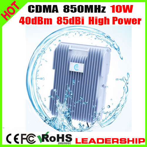 New 10W High Power 10Watts CDMA 850mhz 10Watts 37dbm 85dbi Repeater Booster Repeater Amplifier For Ship Tunnel Farm Desert Use