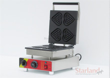 Waffle Maker SNACK Machine Stainless Steel with Heart Shape Mould Waffle Iron
