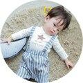 Bebé ropa de primavera traje de niño y niña bebé primavera 0-1-2 años viejos pantalones de la correa larga + chaqueta de la manga traje de dos