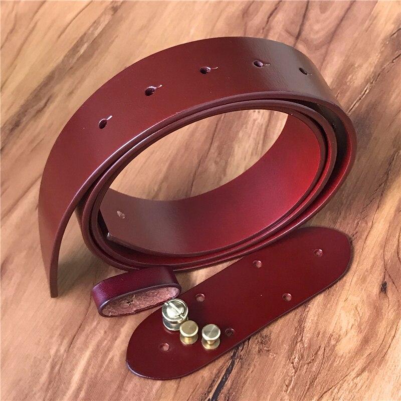 De cuero genuino 3,8 cm de calidad de lujo, correa de los hombres sin cinturón hebilla Correa masculina cinturones para hombres Ceinture Homme 105-125 cm SP02