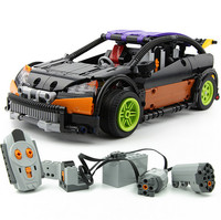 640pcs Lepin 20053 Technic Series Hatchback Type RC Car MOC 6604 Building Block Children Remote Control