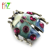 Pins Brooches Beetle Enamel Costume Party-Accessories Rhinestone Gift Insect Fashion