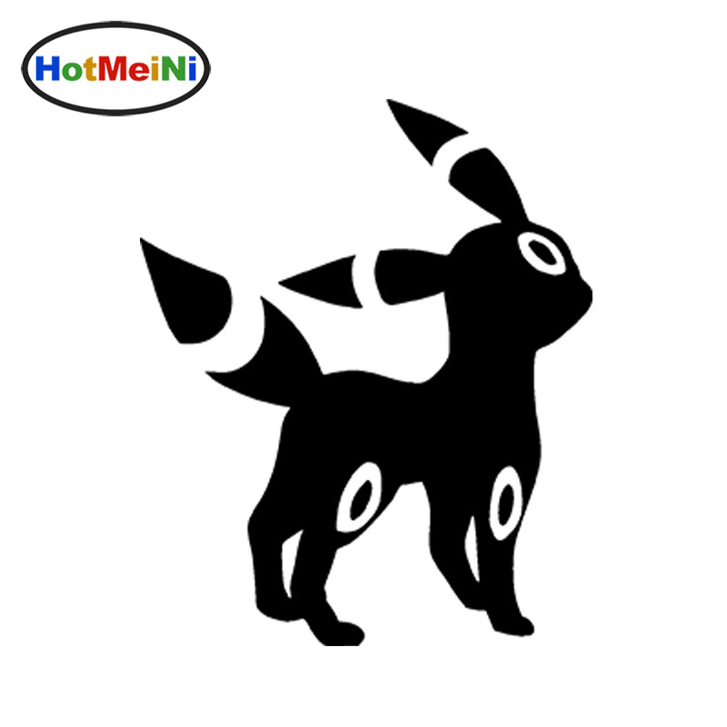 HotMeiNi 12CM*12CM Umbreon Pokemon Funny JDM Personalized Car Stickers Vinyl Decal Car Window Truck Bumper Anime Video Game no airbags we die like real men bumper stickers funny vinyl decal for truck windows black silver white yellow red
