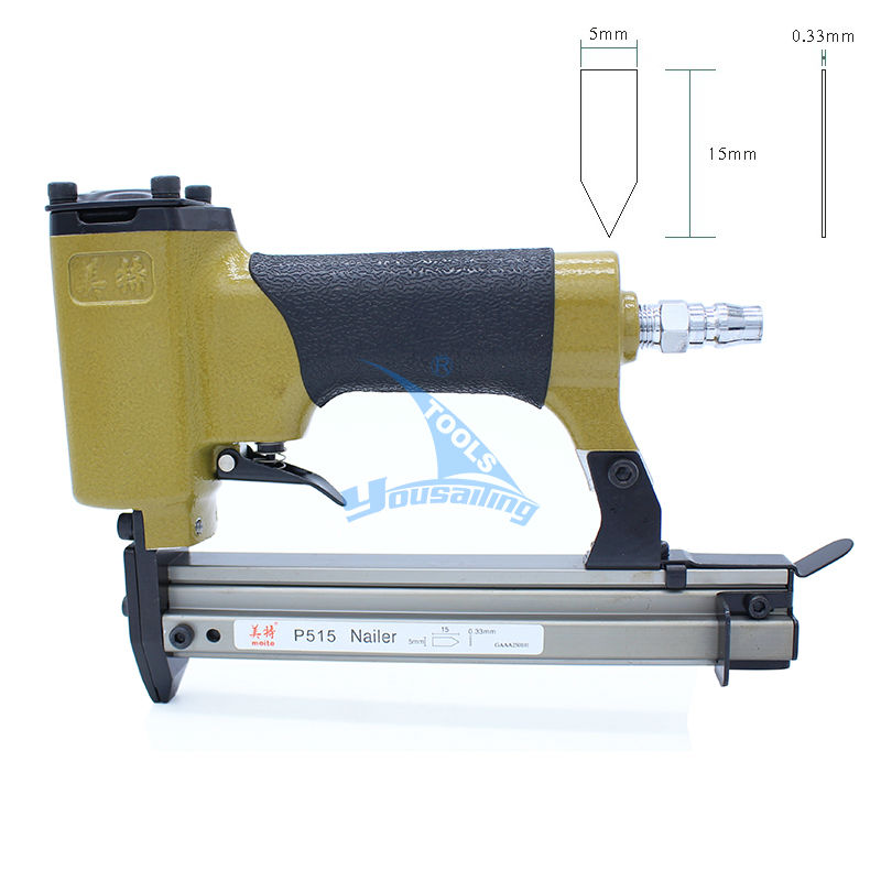 High Quality Pneumatic Nailer Gun Flexible Points  Air Stapler Nail Gun Tools for photo frame P515 For Flexible Points high quality 425kl u type pneumatic nail gun air stapler tools pneumatic brad nailer gun 16 25mm