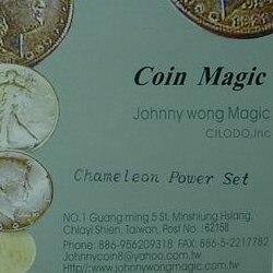 Caméléon puissance Set tours de Magie Coin Magie gros plan Illusion Gimmick accessoires mentalisme