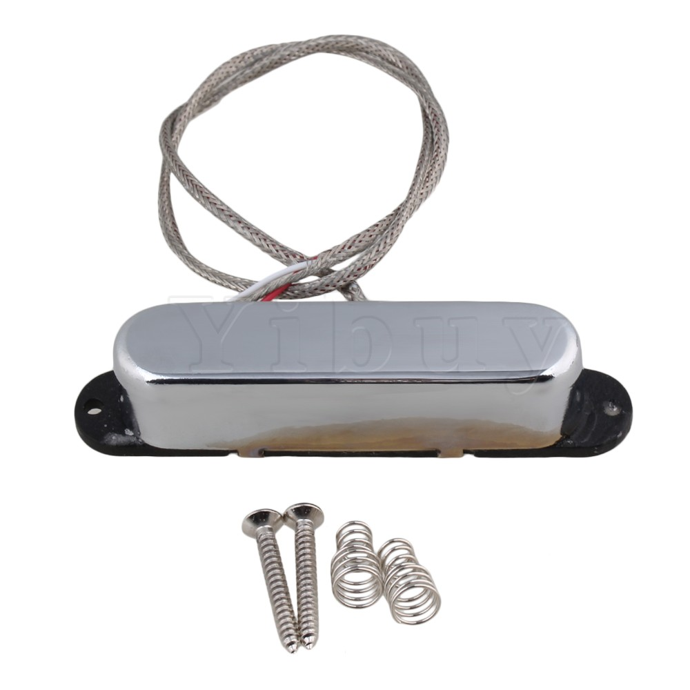 Yibuy 78x21mm Magnet Closed Neck Pickup Double Coil Silver for Electric Guitar belcat bass pickup 5 string humbucker double coil pickup guitar parts accessories black