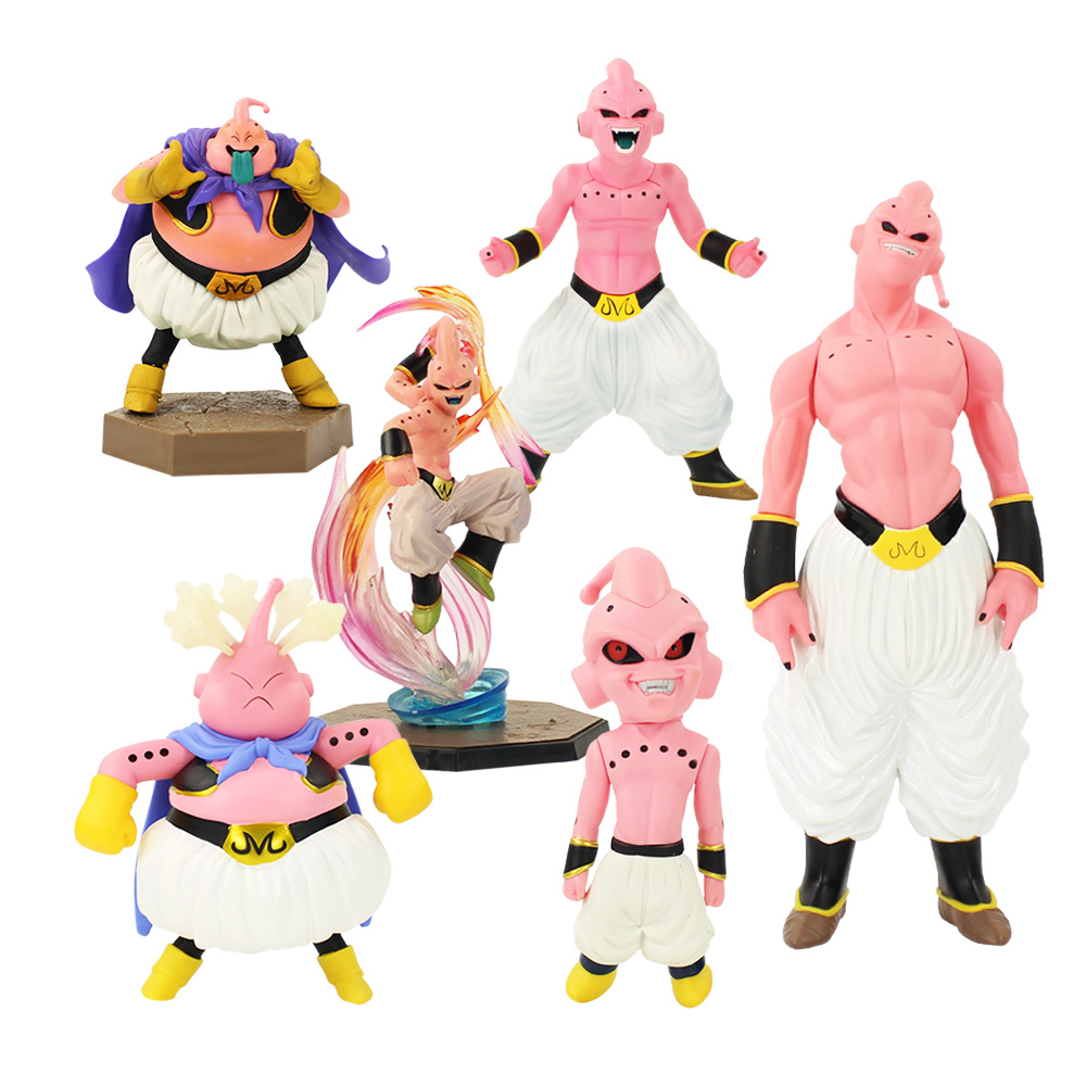 6 Styles Dragon Ball Z Buu Figure Toy DX DXF Fat Slim Majin Boo Anime DBZ Collectible Model Dolls