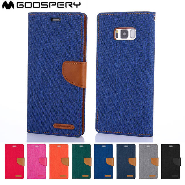 new products 49431 1198a US $7.99 15% OFF|Original MERCURY GOOSPERY Canvas Diary Flip Cover Media  Stand Card Pocket Wallet Case For Samsung Galaxy A8 PLUS 2018 S9 S9 PLUS-in  ...