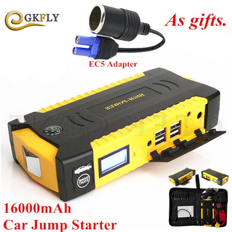 16000mAh Car Charger Portable Car Jump Starter Booster Power Bank For 12V Auto Diesel Petrol Emergency Lighter Starting Device mini car jump starter for petrol car auto starting car battery booster petrol starting device 12v power bank emergency discharge