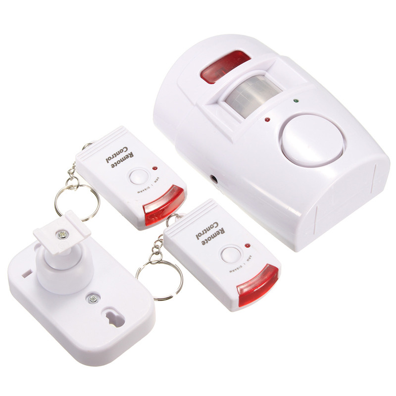 Cost-effective White 2 In 1 Motion Wireless Security Alarm and Chime with Remote Control Holder 2 in 1 wireless remote controller nunchuk control for nintendo wii motion plus game console with silicone case accessories