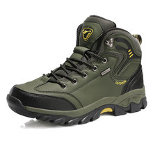 Hot Sale Work Steel Toe Shoes Lightweight Comfortable Safety Shoes For Men Outdoor Waterproof Boots Men High Top 2019 Large Size