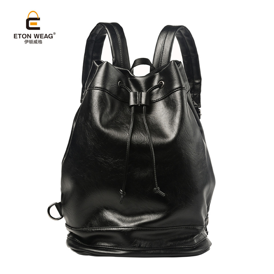 ETONWEAG Brand 2017 Fashion Casual Preppy Style Men High Quality Microfiber Leather Package Male Open Bags Students School Bags 2017 high quaitily casual fashion 014