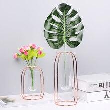 Минималистичная стеклянная бутылка для хранения со стойкой скандинавский Vogue элегантность креативность хранение для кувшина органайзера цветочный контейнер Декор
