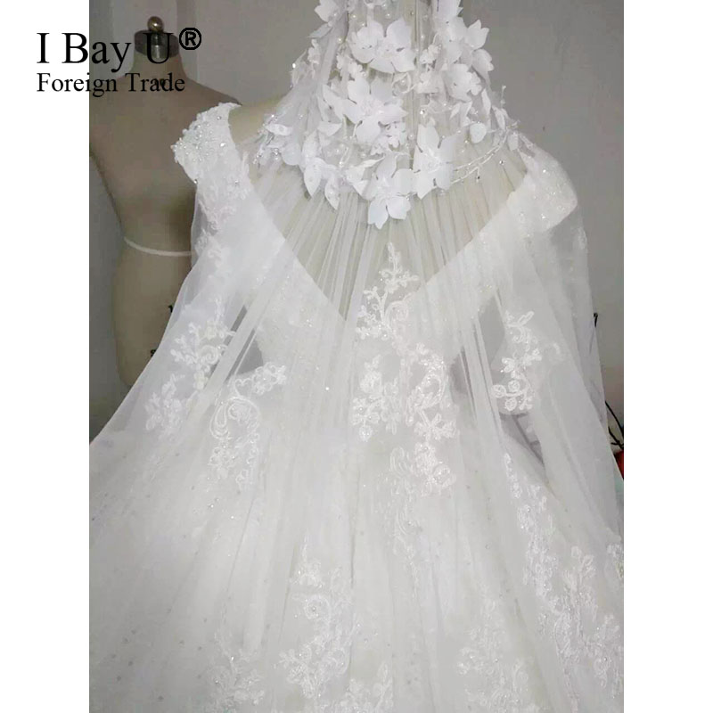 Идеальное Плиссированное 100% Настоящее свадебное платье 2020 Топ модное кружевное бальное платье с аппликацией платья невесты атласные на за