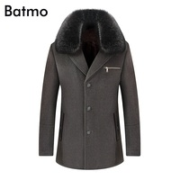 Batmo 2018 new arrival winter high quality wool thick casual trench coat men,men's winter warm coat,winter jackets men,1519