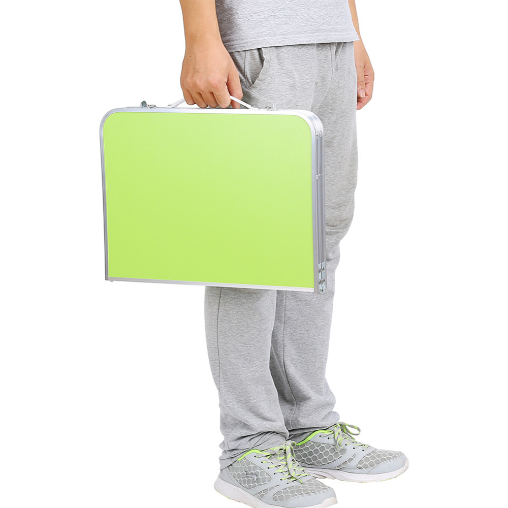 Image 5 - Portable Multifunctional Computer Desk Camping Outdoor Furniture Foldable Picnic Table Dormitory Bed Notebook Desk-in Laptop Desks from Furniture