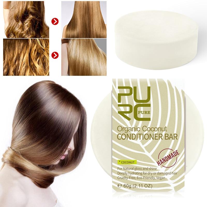 Hair-Shampoo Conditioner-Bar Deeply Coconut Frizzy Organic-Flavor Handmade Hydrating