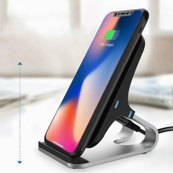 Vogek 10W Vertical Wireless Charger for iPhone XR XS Max Samsung Wireless Charging Dock Stand 2-Coils Type-c Charger Holder