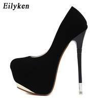 Eilyken 2019 New Spring Sexy Women Pumps Sexy 16 cm High heel shoes Round Toe Party Pumps Wedding size 34 40