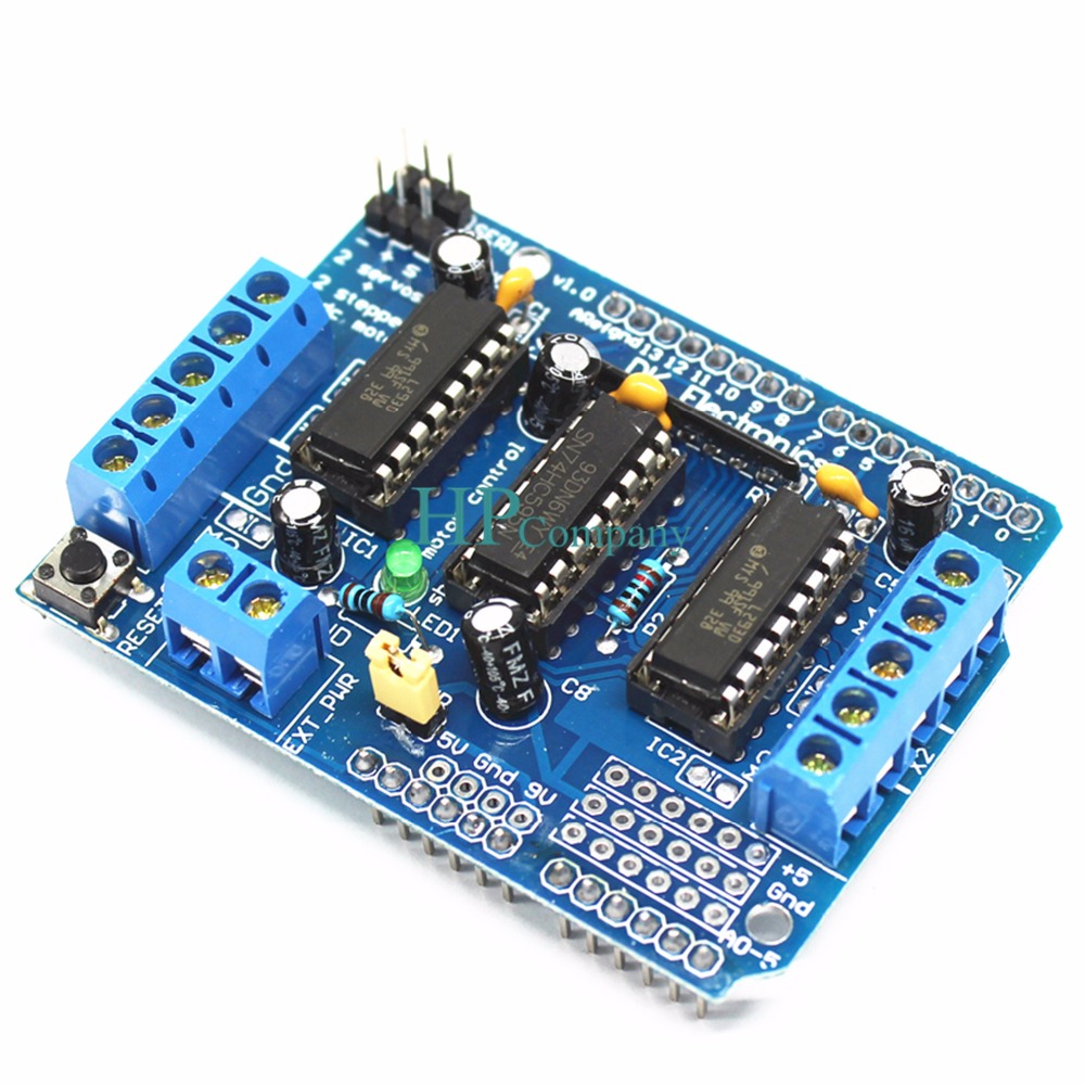 US $1 3 10% OFF|1PCS L293D motor control shield motor drive expansion board  FOR Arduino motor shield-in Integrated Circuits from Electronic Components